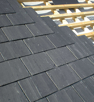 Part way through a slate roof in Brighton